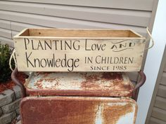 This planter box is the perfect gift for teachers and makes the perfect retirement gift for those who have planted the seed of knowledge in so