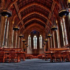 Interior. Suzzallo Library, University of Washington in Seattle. Photography by Cap'n Surly