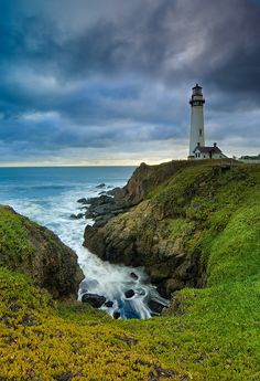 Pigeon Point Lighthouse on a Stormy Evening - San Mateo Coast, California | by Jim Patterson Photography