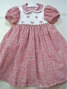 hand smocked child's dress