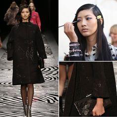 擁有東方童稚面孔與西方高挑身材的台灣名模吳宜樺,自從2011 年拿下第19屆新絲路中國模特大賽超模組冠軍後,已是穿梭各大國際時尚舞台的熟面孔,今年不但在2015年春夏紐約時裝周走了13場秀,在米蘭時裝週期間也拍了當地的平面廣告。 身為勇闖天涯的台灣人,吳宜樺也沒有缺席SHIATZY CHEN夏姿˙陳 2014秋冬巴黎時裝秀,輕鬆駕馭詮釋「亮澤硯池系列」開襟大衣。此系列布料來自義大利卓越專業紡織技術重鎮COMO,多年來為SHIATZY CHEN所設計的花色開發緹花布料,利用異材質紗線與膠膜工法交錯排列,讓布紋隱約地閃爍著硯池的紋理並帶有低調的光澤感,搭配摩登的oversize剪裁,落落大方。#shiatzychen #overcoat #oversizecoat #supermodel  www.shiatzychen.com