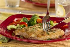 Our flavorful and juicy Parmesan Chicken Bake starts with boneless, skinless chicken breasts that we coat with a light breading and Parmesan cheese. This no-fuss main dish is restaurant-worthy and fit for a diabetes diet, to boot!