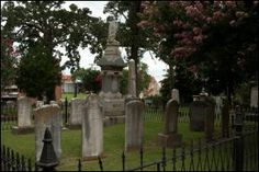 Mount Holly Cemetery, Arkansas - is a historical cemetery with many prestigious residents laid to rest there. Activity includes apparitions in period clothing, strange mists and lights that appear in photographs, the echo of a flute that comes from nowhere and trinkets that appear and disappear from the graves. Some have also reported moving statues.