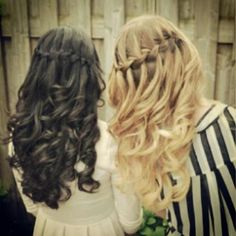 waterfall braids #love
