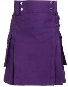 Women-Utility-Purple-Active-ladies-Modern-Kilts-Cotton-Highland-Music #HighlandKiltShop #HighlandKilt #FashionKilt #KiltForSale