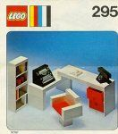 LEGO 295 Secretary's Desk -- link with scan of instruction book. I bet I can make those stickers