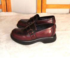 40ae0b3945e Dansko Sz 39 EU 8.5 - 9 US Burgundy Cherry Leather Loafers W  Buckle Strap   Dansko  LoafersMoccasins