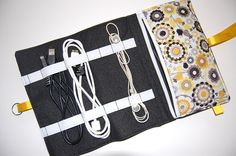 Diy travel cord organizer travel projects and organizers Charger cord organizer diy