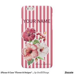 "iPhone 6 Case ""Flower & Stripes"" Var02 Glossy iPhone 6 Case"