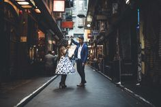 Engagement photo in the city ideas | Dance the night away | This is incredible! Unique work by  PixlPopr http://www.bridestory.com/pixlpopr/projects/nadia-leo