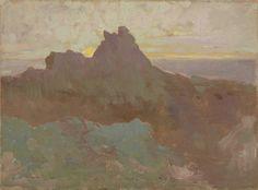 Odilon Redon. Rocky Peak. c. 1875