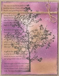 First here's some news: All Halloween stamps, papers and embellishments are on sale off – lots and lots of great buys. Tree Poem, Sympathy Cards, Junk Journal, Paint Colors, Vines, Card Ideas, Vintage World Maps, Poems, Mixed Media