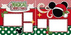 Magical Christmas Disney Digital Scrapbook Quick Pages