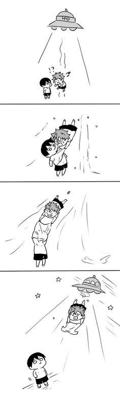 Even though I ship KAGEHINA I think Kageyama would do this