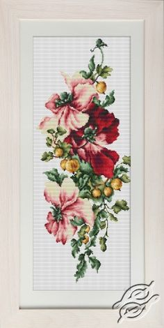 Flowers and Gooseberries - Cross Stitch Kits by Luca-S - BM3001