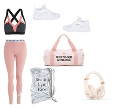 """Gym"" by melissa-taala ❤ liked on Polyvore featuring Hype, NIKE, Beats by Dr. Dre and ban.do"