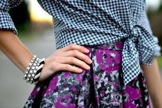 Prints again with checkered and floral