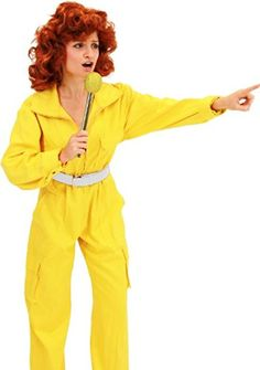 Teenage Mutant Ninja Turtles April O' Neil Yellow Ladies Costume Jumpsuit (Large/X-Large)