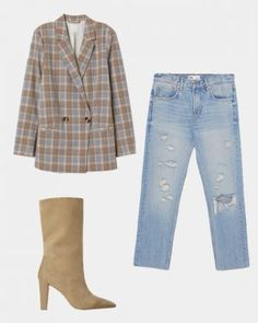 In the past months blazers took over runways, red carpets and street-style – as spring approaches the tailored piece proves it's here to stay! Read on for 3 styling tips and shop-able looks t… Plaid Blazer, Blazer Dress, High Fashion Trends, New Street Style, Double Breasted Blazer, Slim Jeans, Get The Look, Going Out, Blazers