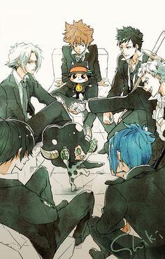 Reborn Katekyo Hitman, Hitman Reborn, Manga Anime, Anime Art, Shinshi Doumei Cross, Reborn Anime, Ao No Exorcist, Fan Art, Hot Anime Guys