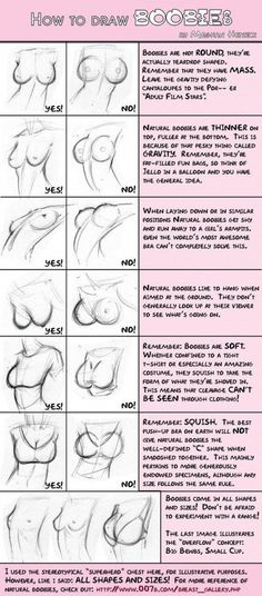 How To draw boobs (For drawing purposes). Reminds me of all the girls in animes…