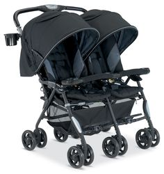 Best double stroller ever! So easy to maneuver and fits through just about any doorway. Only negative? The cup holders for the kids need to be a bit deeper.