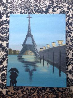 Eiffel Tower painting via my Etsy Shop!