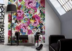 Wohnzimmer blumen ~ Blaue polstermöbel sofa wohnzimmer blumen decor