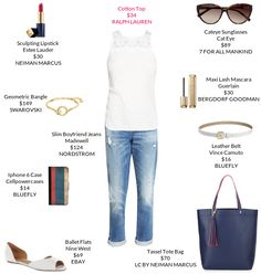 ahh relaxed boyfriend jeans for summer casual. <3