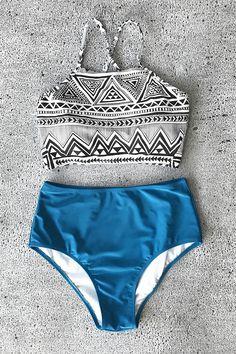 Cupshe Simple Truth Cross Bikini Set #SuitSets