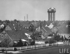 1950s Levittown, New York (Long Island) - Church Road and Division Avenue (Levittown, the first truly mass-produced suburb.)  @A Lifetime Legacy