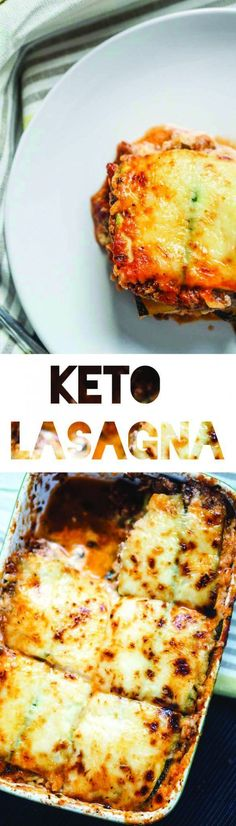 Keto Lasagna Recipe | Zucchini Noodles | Low Carb | Atkins