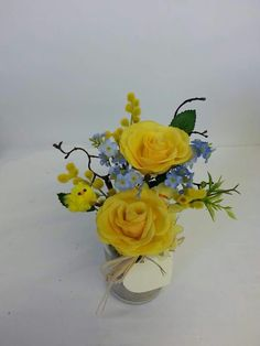 Just £12 for a everlasting Faux Flower pressie in jam jar with gift card xx