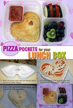 """Pizza Pockets for your lunch box. More info HERE: <a href=""""http://bit.ly/12PW1Jg"""" target=""""_blank"""">Bento-logy</a>"""