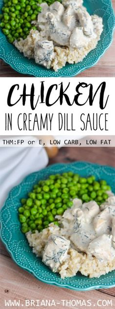 Chicken in Creamy Dill Sauce - THM: FP or E - low fat - low carb - gluten free - egg free - nut free - Trim Healthy Mama Fuel Pull or E meal - family skillet dinner