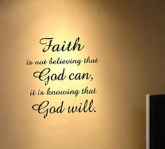 Faith.. God.. quote Wall Decal Decor Art Sticker Mural-in Wall ...