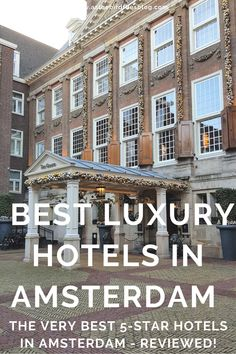Looking for a luxury hotel in Amsterdam? Want a special place to stay in Amsterdam for your visit? Want only the best 5-star accommodation in Amsterdam? This is the list for you. This compilation of 20+ of the best luxury hotels have all been tried, tested and reviewed by me! Compare different styles, locations and prices of these dreamy 5-star Amsterdam hotels and find the best places to stay in Amsterdam, Netherlands. Travel Advice, Travel Guides, Travel Tips, Amsterdam Travel Guide, Amsterdam Things To Do In, Amsterdam Netherlands, Luxury Hotels, 5 Star Hotels, The Good Place