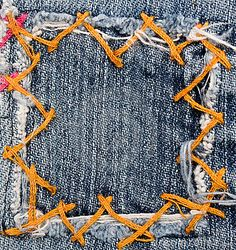 Jeans patch by Brad Calkins, via Dreamstime