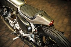 """Morning Wood Honda Custom Cafe Garage Project Motorcycles Some amazing have been popping up over the past year, but this one from Garage Project Motorcycle's is one of my favorite. """"Morning Wood"""" is built off of the Custom platform, so Cx500 Cafe, Honda Cx500, Honda Motorcycles, Custom Motorcycles, Custom Bikes, Cafe Racer Honda, Inazuma Cafe Racer, Project Mc, Cafe Moto"""
