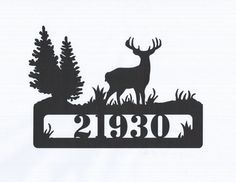 Deer Address Metal Sign by RillaBee on Etsy, $65.00