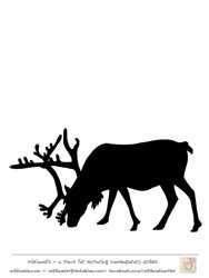 Free Reindeer Clip art , Reindeer Silhouette Template at www.milliande-printables.com Great Silhouettes of Reindeer Pictures LOVE IT !!!