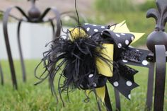 Boutique Hair Bow Over The Top Bumble Bee Bow