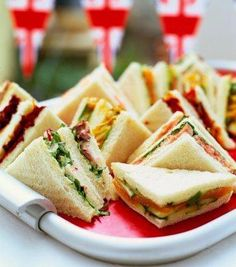 Image result for Fancy Tea Sandwiches