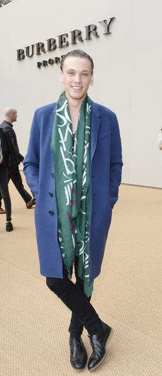 Jamie Campbell Bower wearing Burberry at the Prorsum S/S15 show