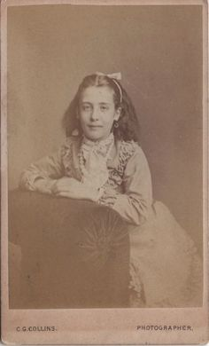 CDV photo of a victorian girl taken in St. Johns Wood, London around late 1860s to early 1870s by Charles George Collis at his studio located at 56 Cochrane Street.