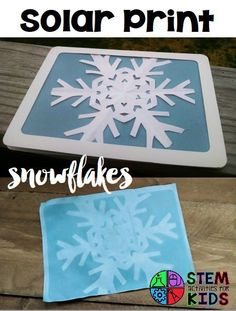 Solar print snowflakes and more with Snowflake STEM! Links to photos of snowflakes, the history of blueprinting, and Star Wars snowflakes. | STEM Activities for Kids