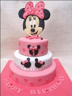 Minnie Mouse birthday cakes plus birthday cake pictures plus minnie mouse toppers - Minnie Mouse Birthday Cakes for Your Kid's Special Moments Bolo Do Mickey Mouse, Minnie Mouse Birthday Cakes, Bolo Minnie, Minnie Cake, Birthday Cake Girls, Happy Birthday, 3rd Birthday, 3 Year Old Birthday Cake, Birthday Ideas