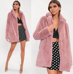 4558ce1104 £70.00 Pink Faux Fur Longline Coat #pinkcoat #furcoat#womencoat  #vintagecoat #. I SAW IT FIRST