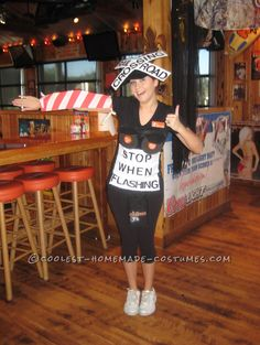"""Coolest Railroad Crossing Halloween Costume... this site is the """"Pinterest"""" of costumes."""