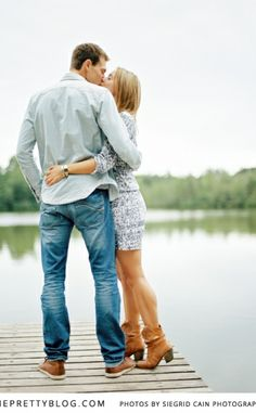 Couple kissing on the jetty